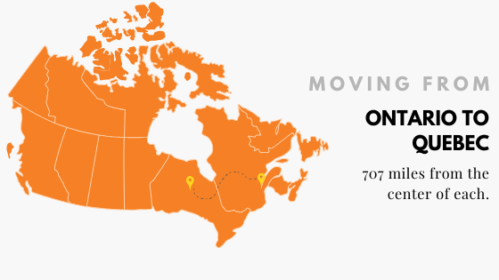 Moving from Ontario to Quebec